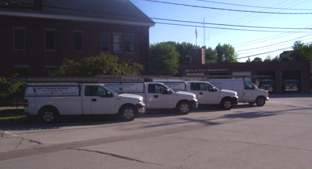 Our Service Fleet ready to serve (not pictured: Red Toyota, Blue Honda Element)
