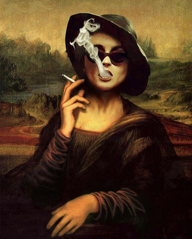 Film meets art, Marla meets Mona. @failunfailunmefailun