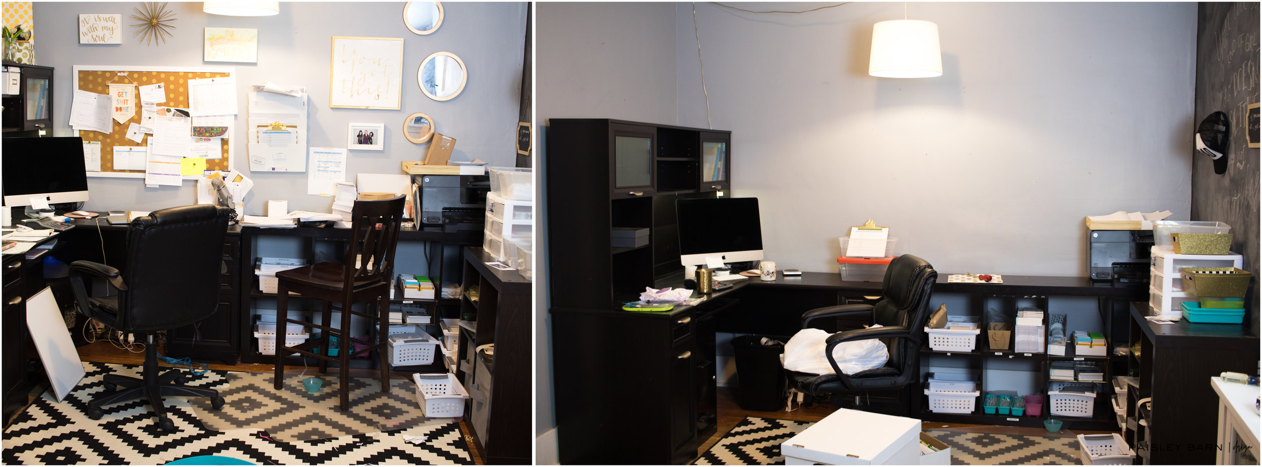 The cluster of an office I was working with before we started. SEE! It was necessary, I don't even know how I was productive in this mess!