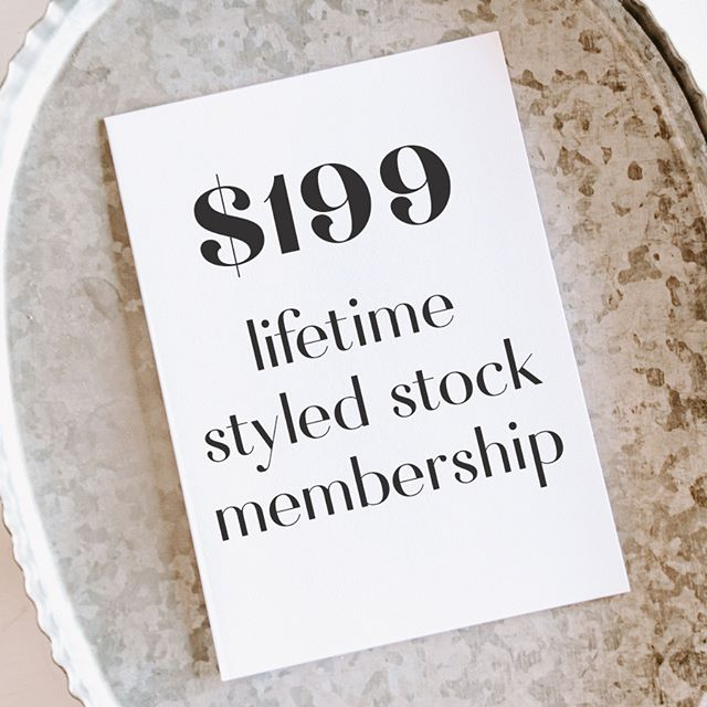 Hundreds of gorgeous styled stock photos for only $199? Yes please! This lifetime membership isn't going to be around forever, the doors close on the membership on MARCH 31st.
