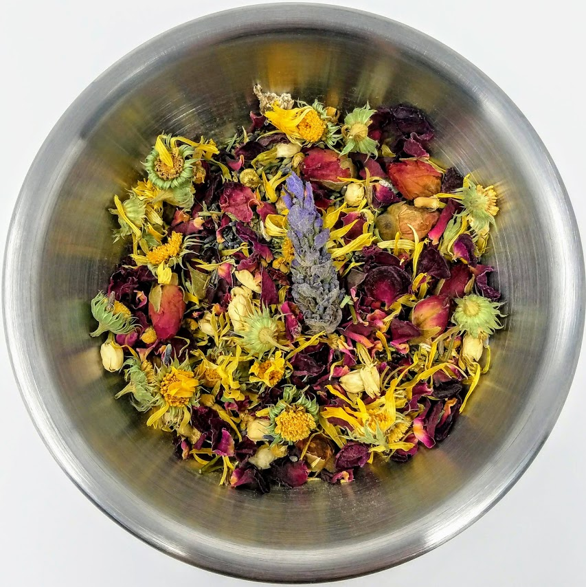1. blend herbs in bowl