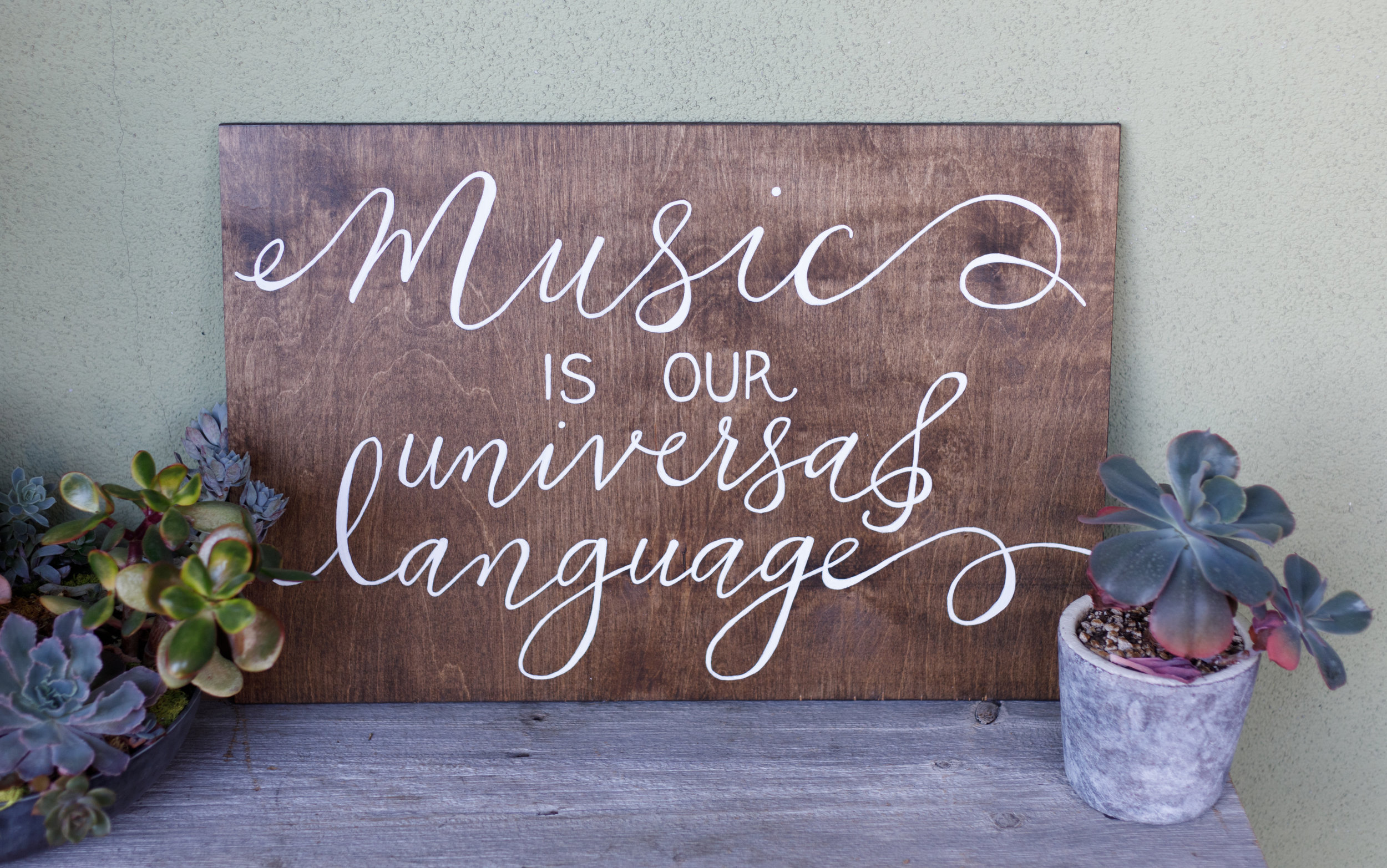 Beautiful custom calligraphy piece for the music lover's home or office