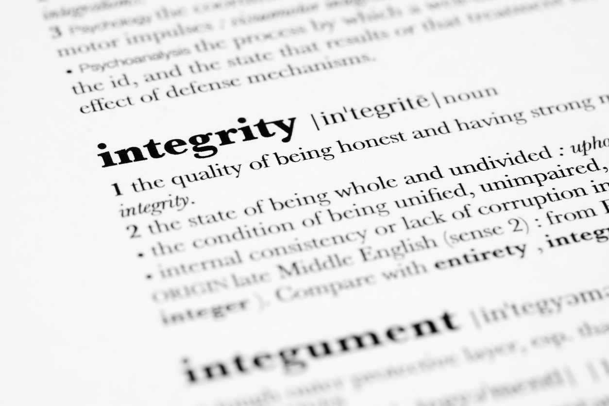 """""""Practicing integrity has been a catalyst for growth and self-improvement. When practiced thoroughly, integrity helps develop more direct, effective communication, creates healthier relationships where my needs are known and boundaries set, allows me to look at myself and my intentions and to question what's best for myself and my recovery""""."""