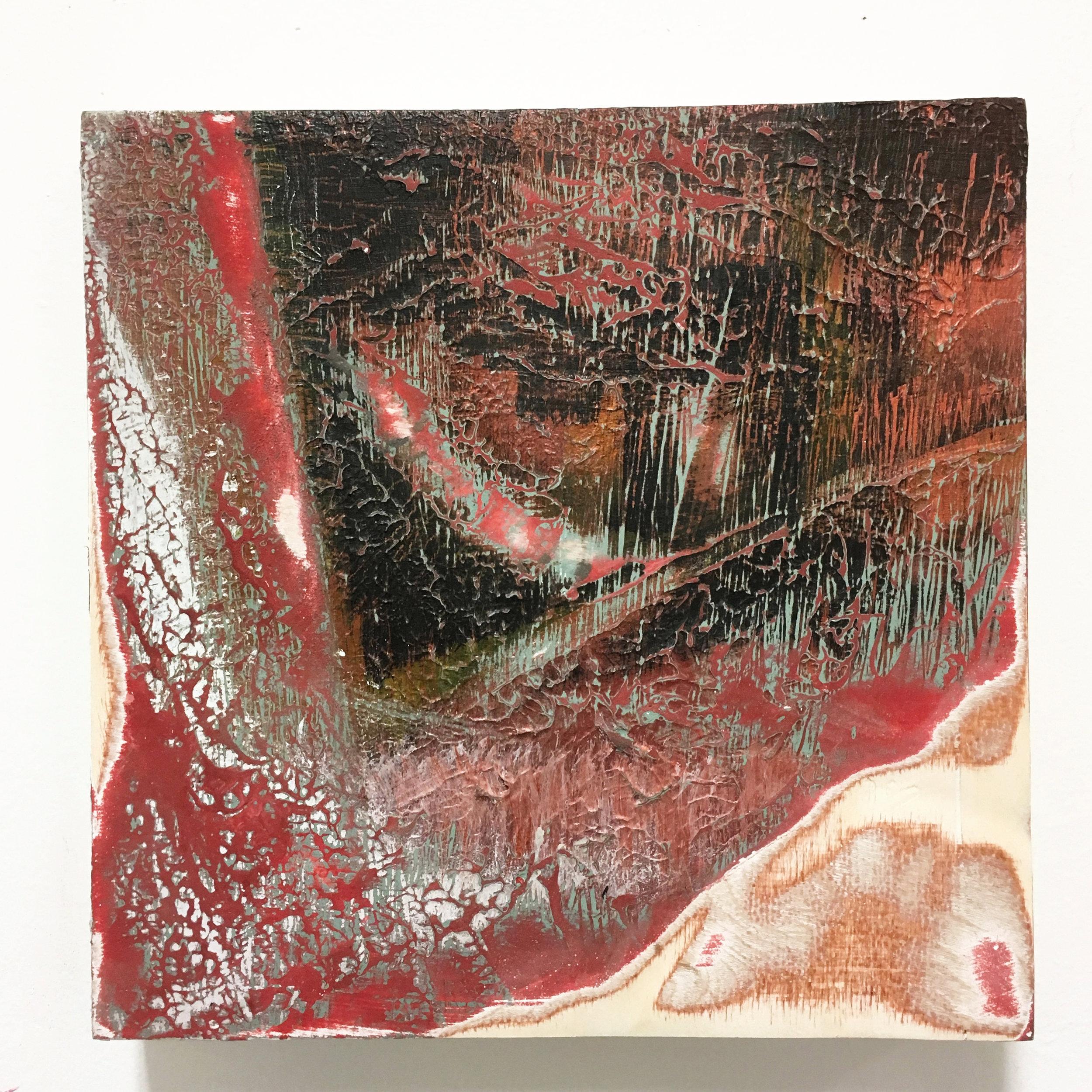 """Untitled II  Acrylic on panel  12x12"""" 2016"""