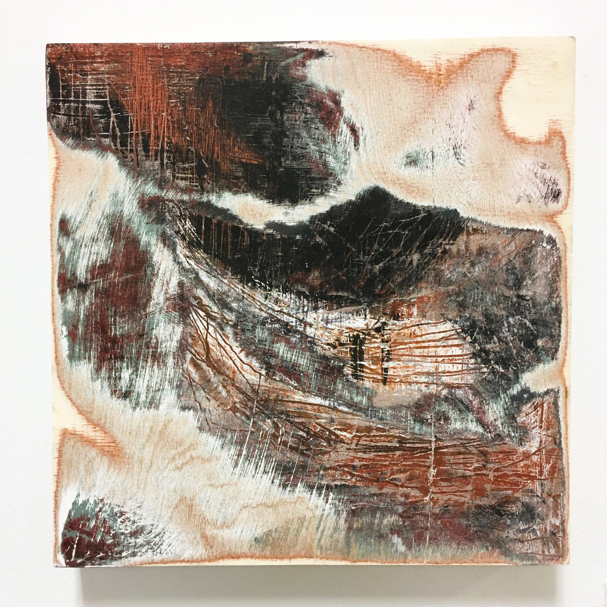 """Untitled I  Acrylic on panel  12x12"""" 2016"""