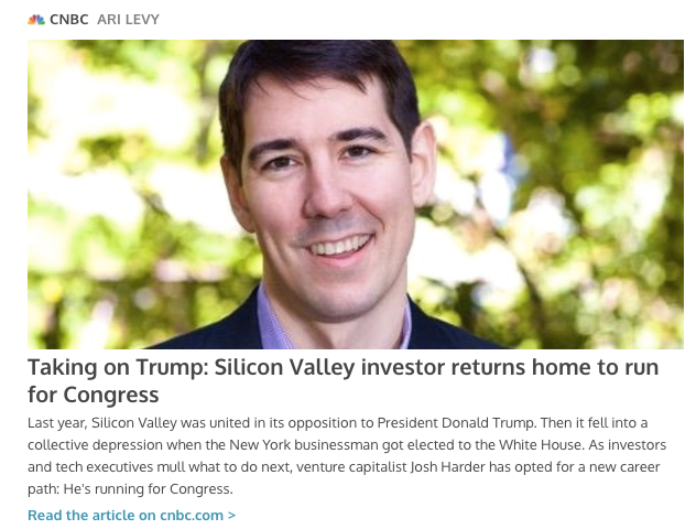 Copy of CNBC: Taking on Trump: Silicon Valley investor returns home to run for Congress