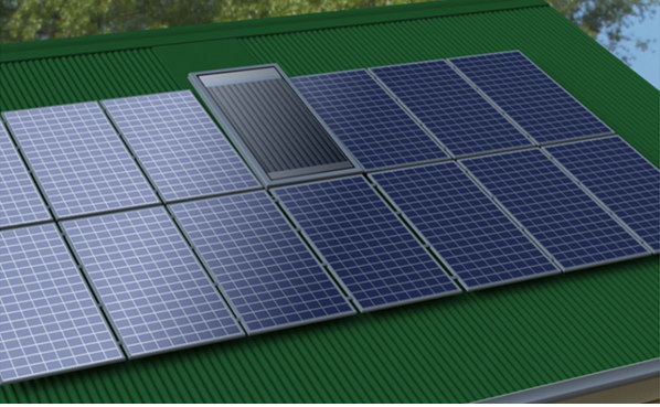 Solar ventilator and commercially sized PV panels