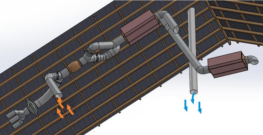 Possible ducting arrangement for cooler