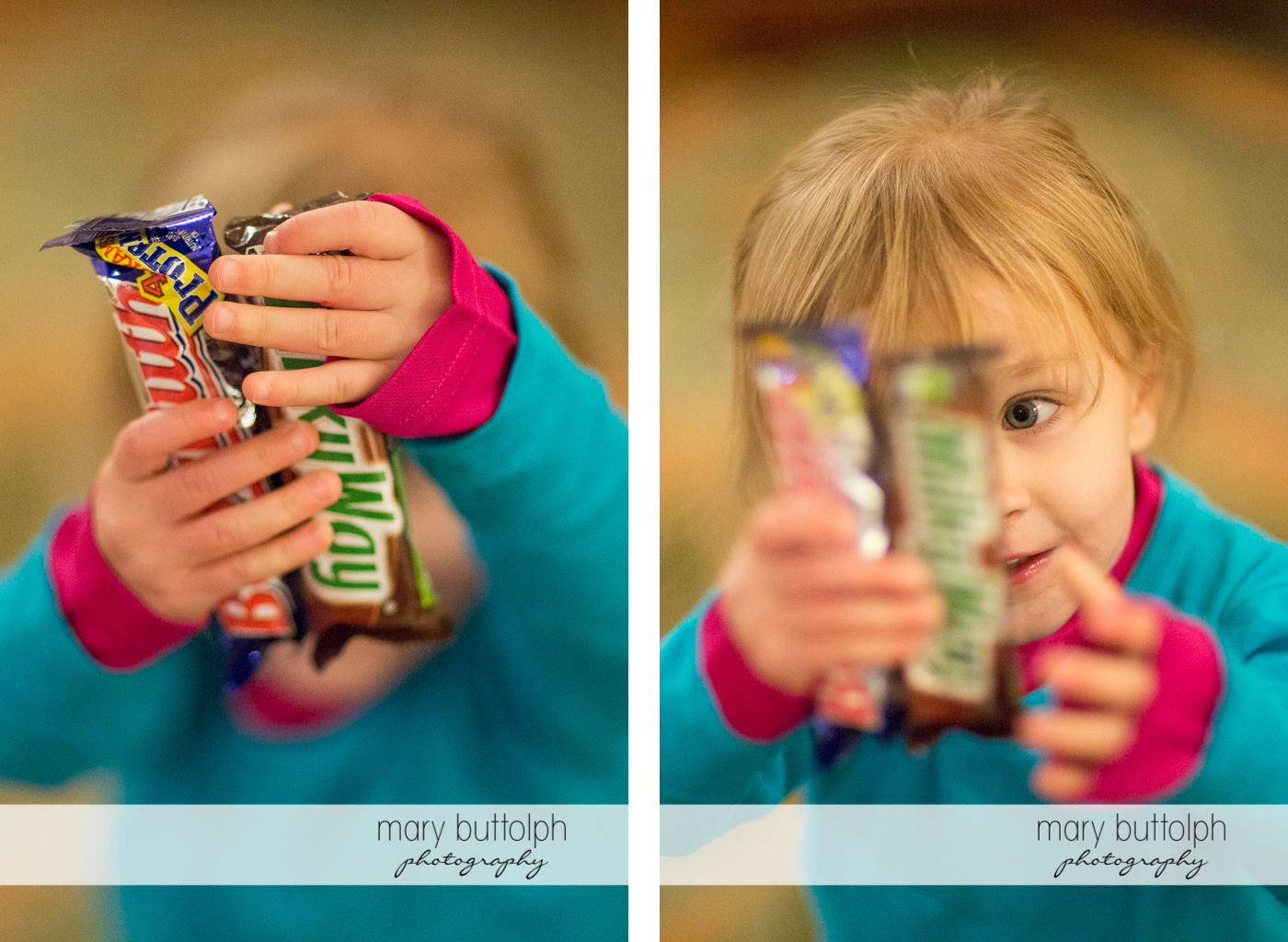 Girl closely examines her Halloween goodies at Skaneateles