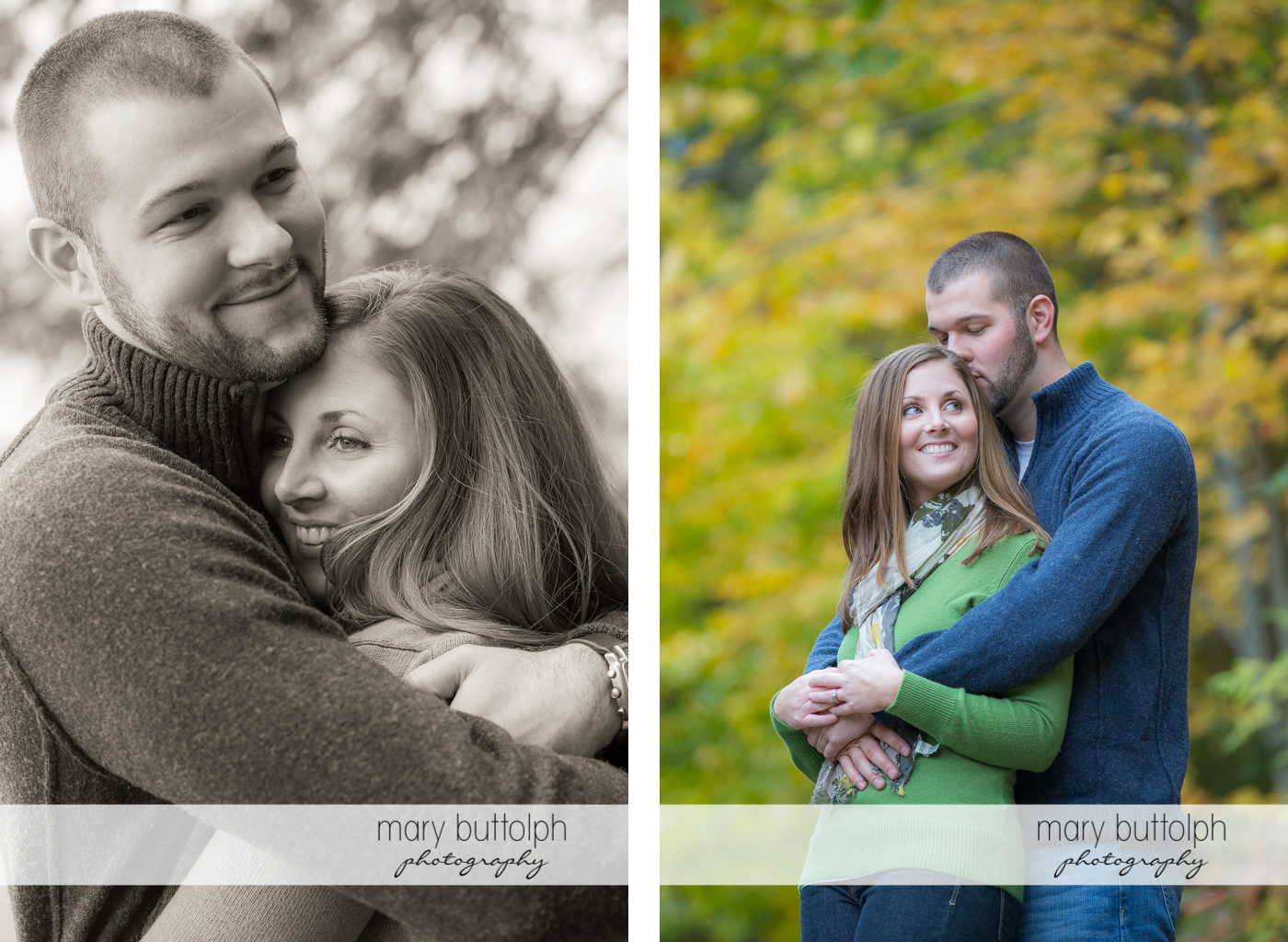Two great shots of the same couple at Skaneateles Engagement