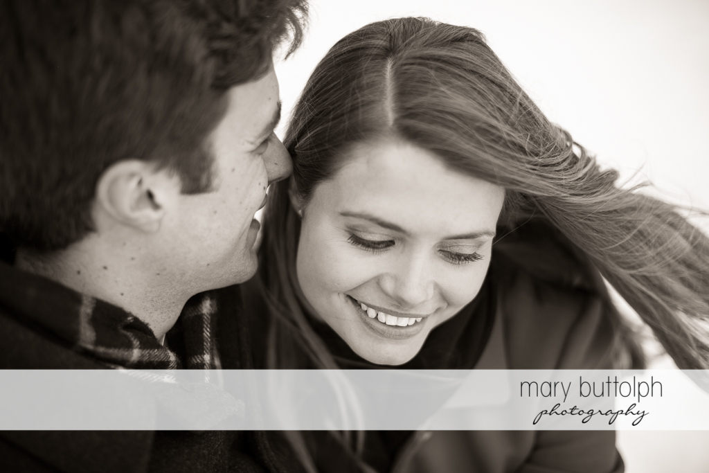 Couple have a good time at Skaneateles Engagement