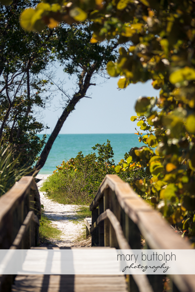 Walkway leading to the beach at Sanibel Island Vacation