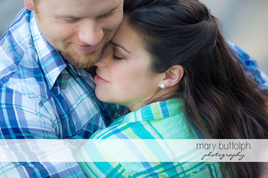 Couple show their affection at Skaneateles Engagement
