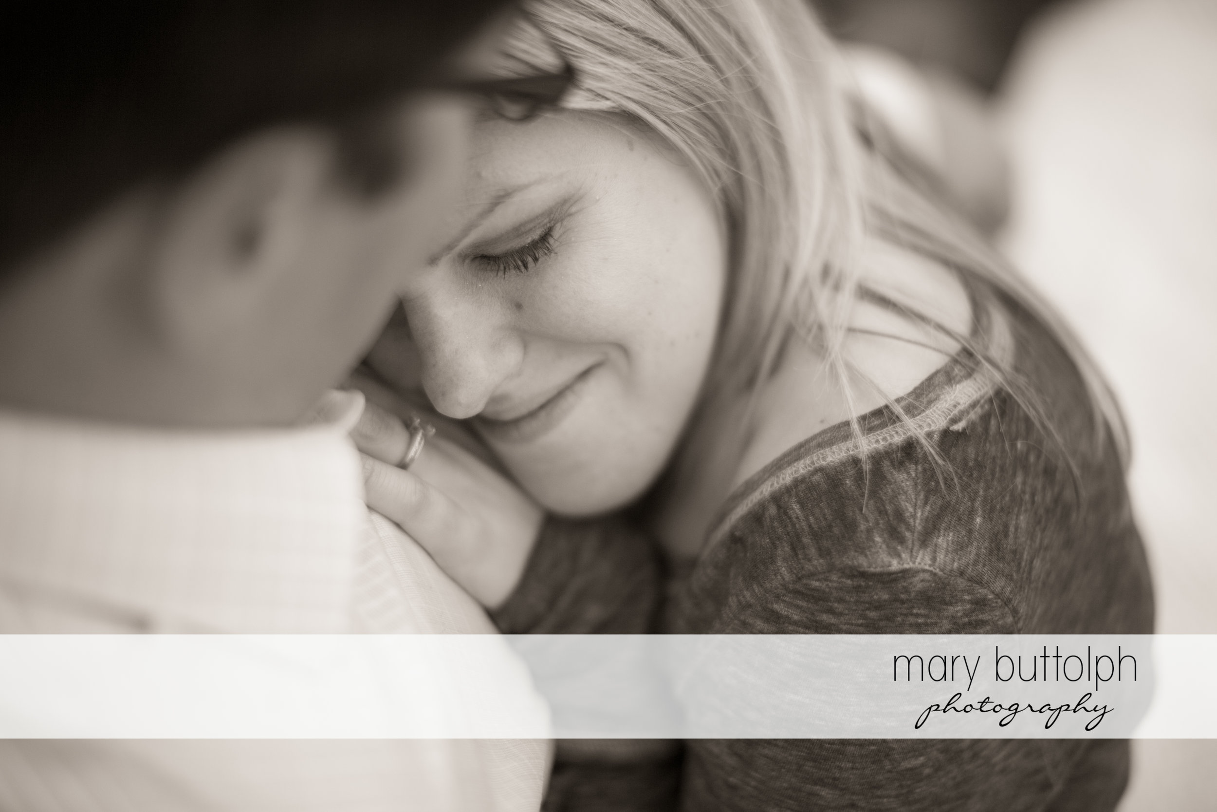 Couple in a dramatic black and white shot at SUNY Geneseo Engagement