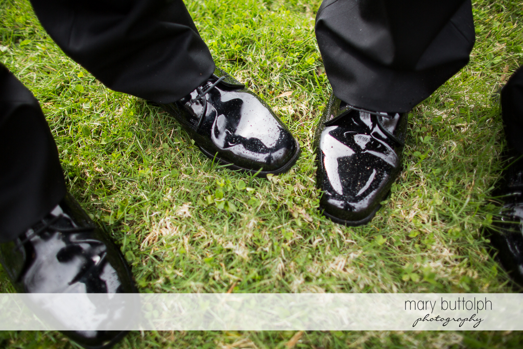 Shoes of same sex couple at Arrowhead Lodge Wedding