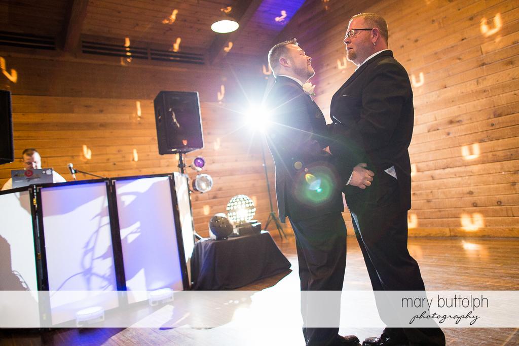 Same sex couple on the dance floor at Arrowhead Lodge Wedding