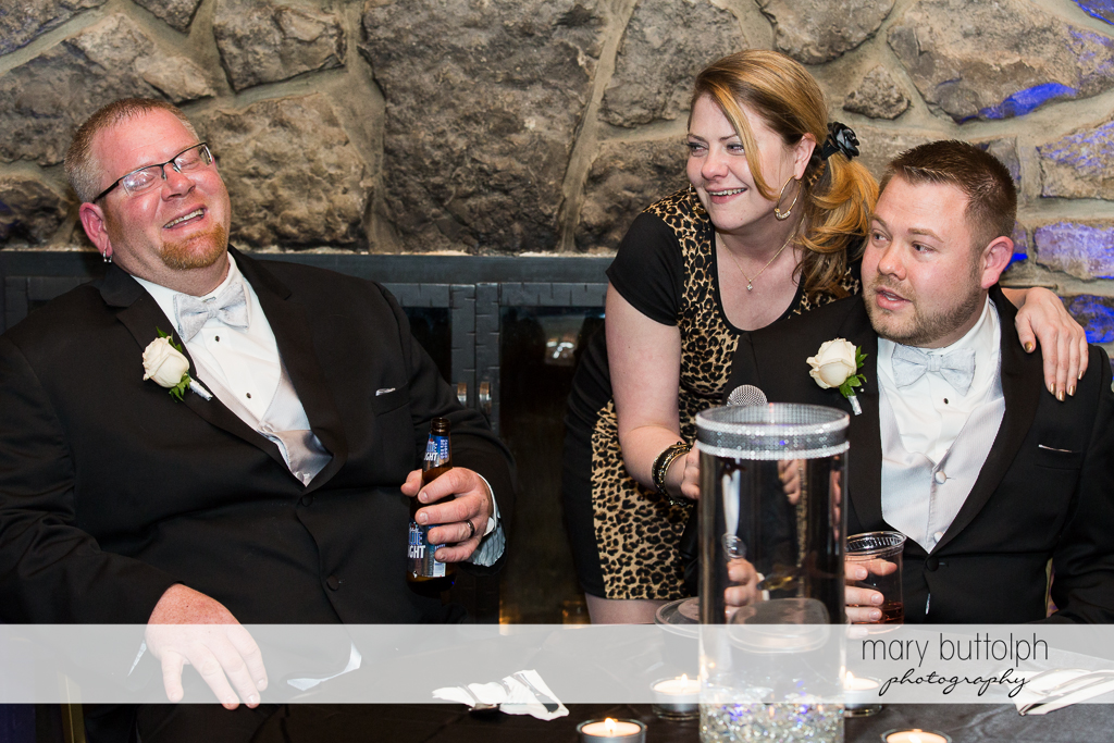 Same sex couple and a female friend at Arrowhead Lodge Wedding