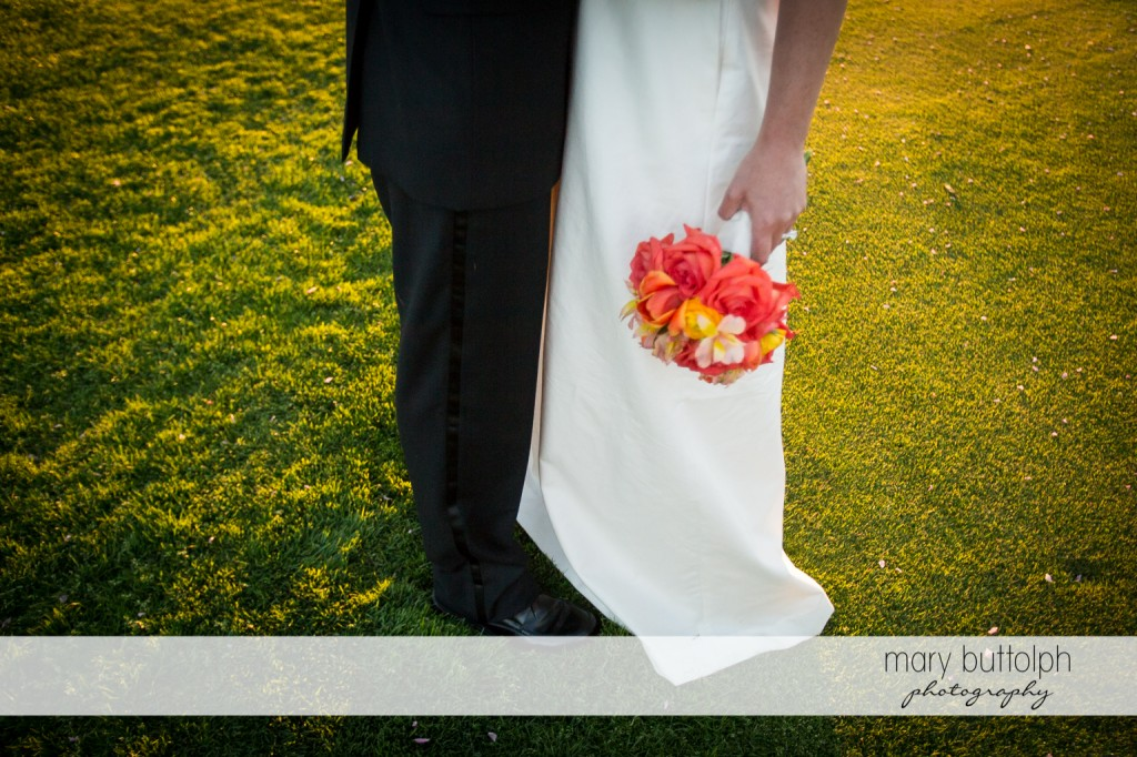 Couple's contrasting wedding attire at Skaneateles Country Club Wedding