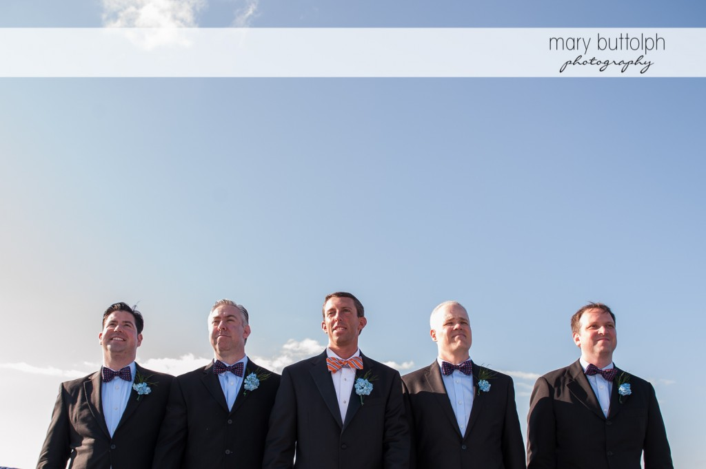 The groom and his groomsmen at Skaneateles Country Club Wedding