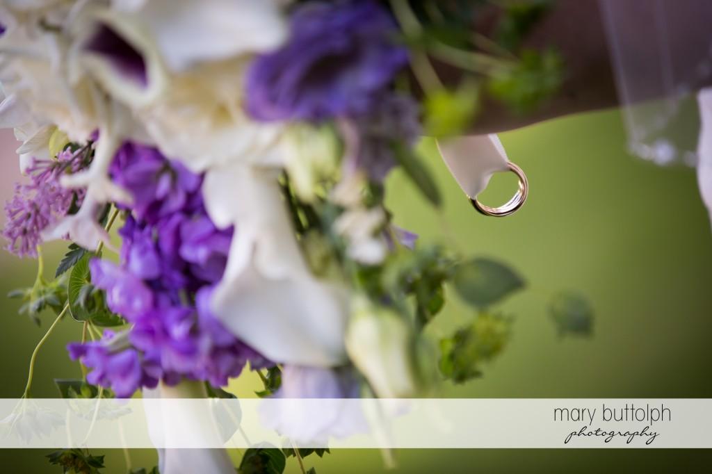 Close up shot of flowers at Emerson Park Pavilion Wedding