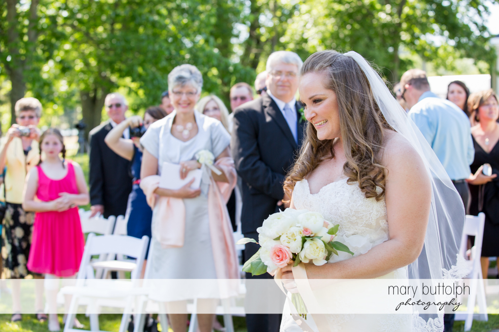 The bride and her guests at Emerson Park Pavilion Wedding