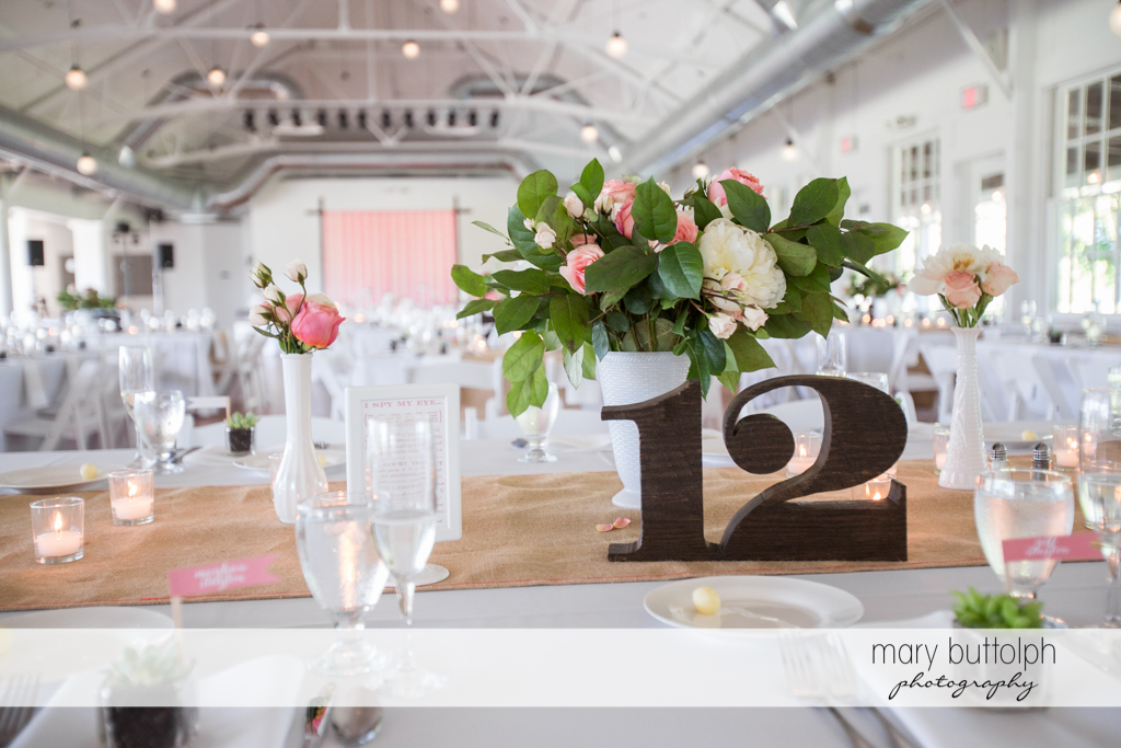 Numbered table for guests at Emerson Park Pavilion Wedding