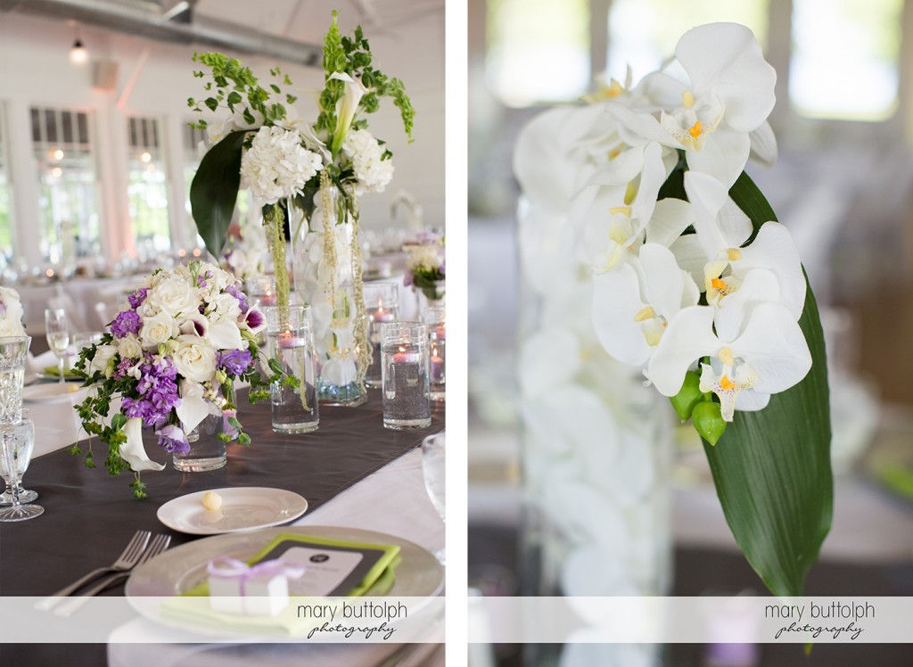 More shots of flowers at the wedding venue at Emerson Park Pavilion Wedding