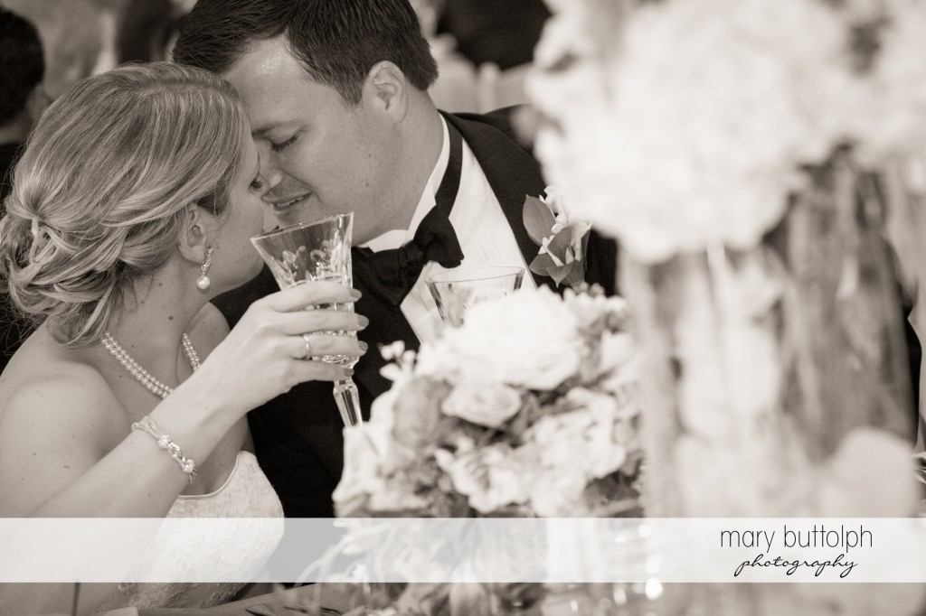 Couple share a tender moment at the wedding venue at Emerson Park Pavilion Wedding
