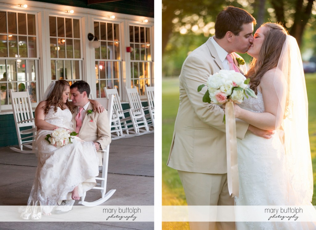 Couple share a tender moment at the wedding venue and in the garden at Emerson Park Pavilion Wedding
