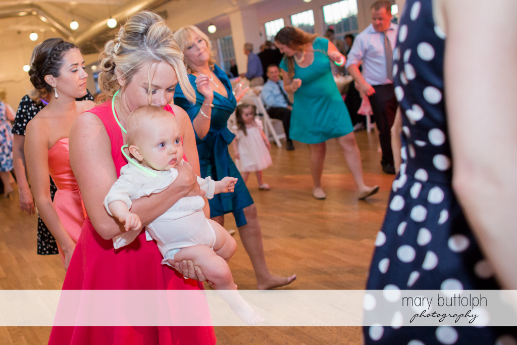 Even kids show up at the wedding venue at Emerson Park Pavilion Wedding