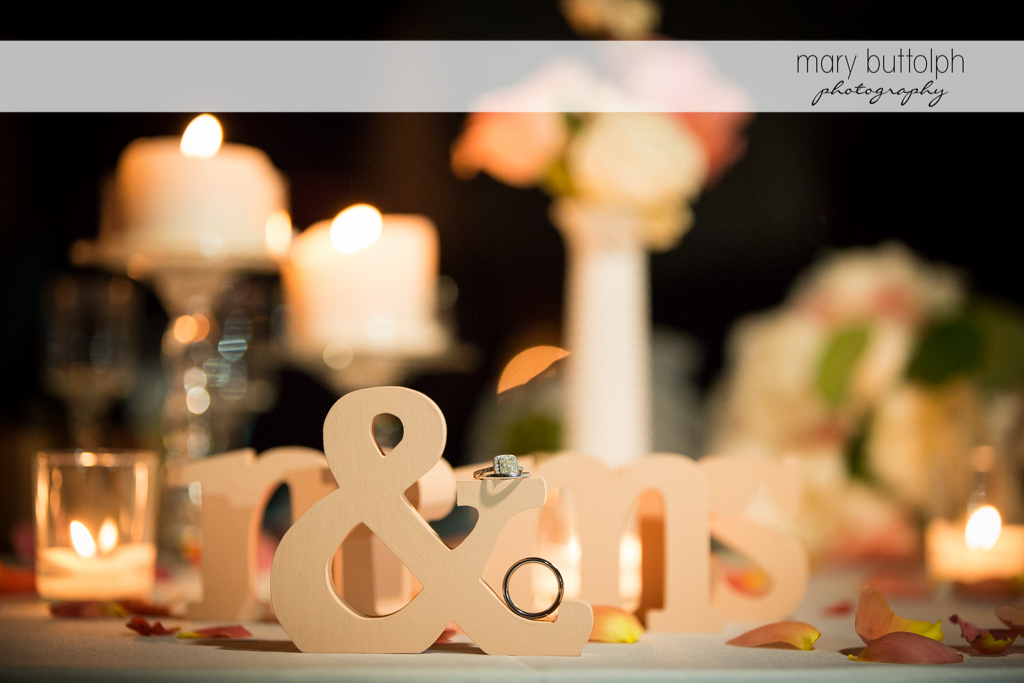 The couple's table at the wedding venue at Emerson Park Pavilion Wedding