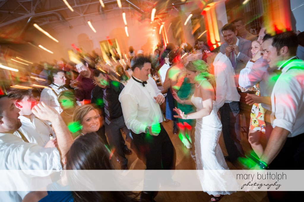 Couple and guests dance the night away at Emerson Park Pavilion Wedding