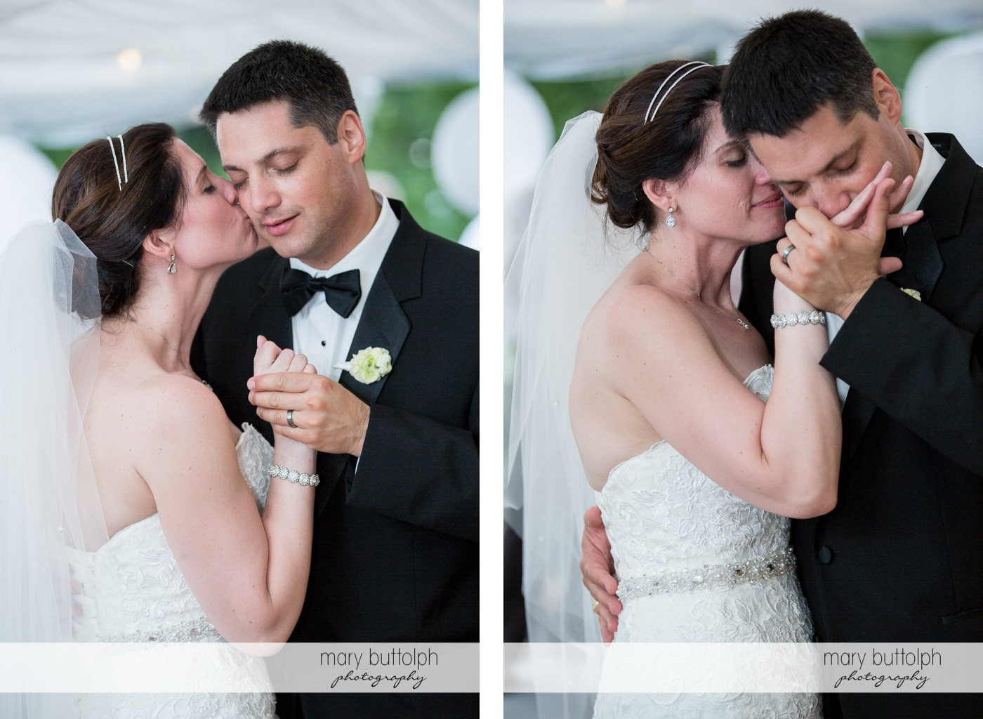Couple share a romantic moment at the Inns of Aurora Wedding