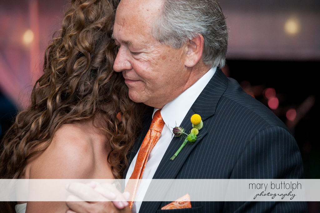 Bride dances with her father at the Inns of Aurora Wedding