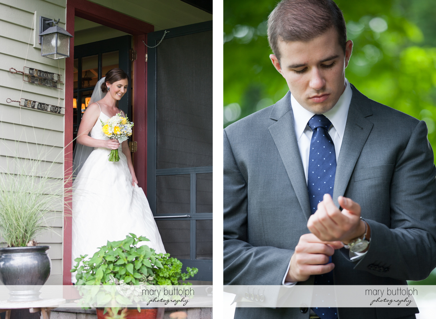 Bride leaves the inn to meet her groom at the Hamilton Inn Wedding