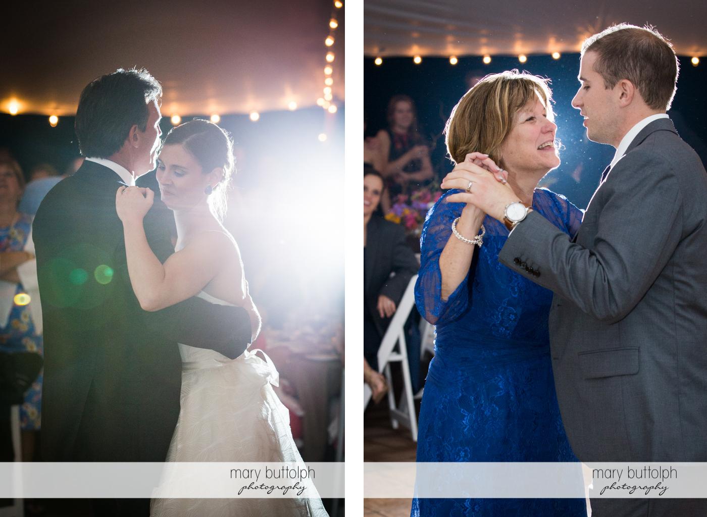 Couple dance with their parents at the Hamilton Inn Wedding