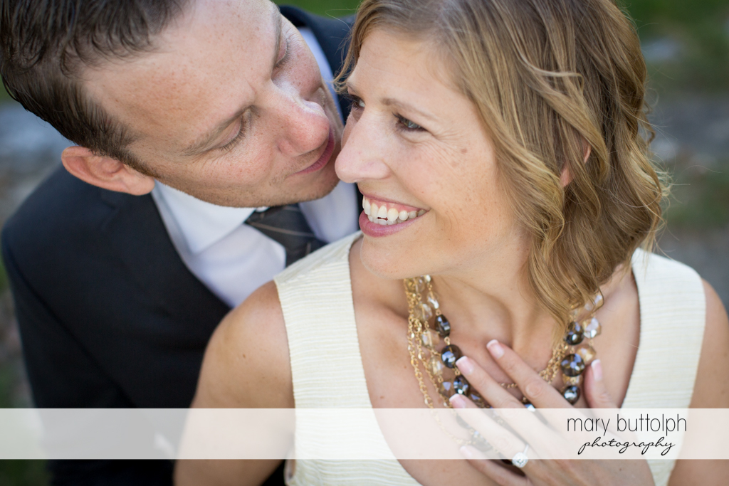 Couple share a beautiful moment together at the Inns of Aurora Engagement