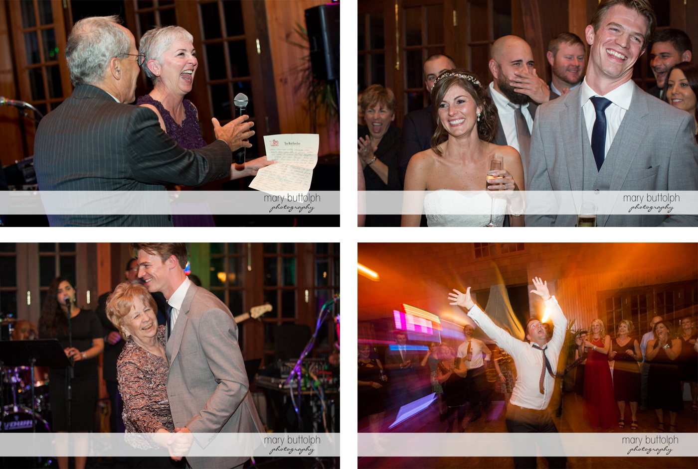 Guests have a ball with the couple at the wedding venue at Anyela's Vineyards Wedding