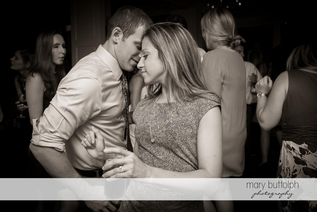 Guests enjoy dancing at the wedding venue at Skaneateles Country Club Wedding