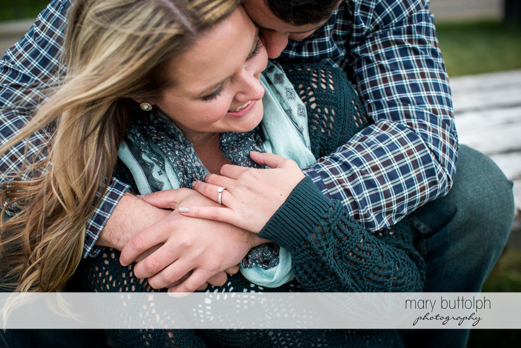 Couple share precious moments at Beak & Skiff Apple Orchards Engagement