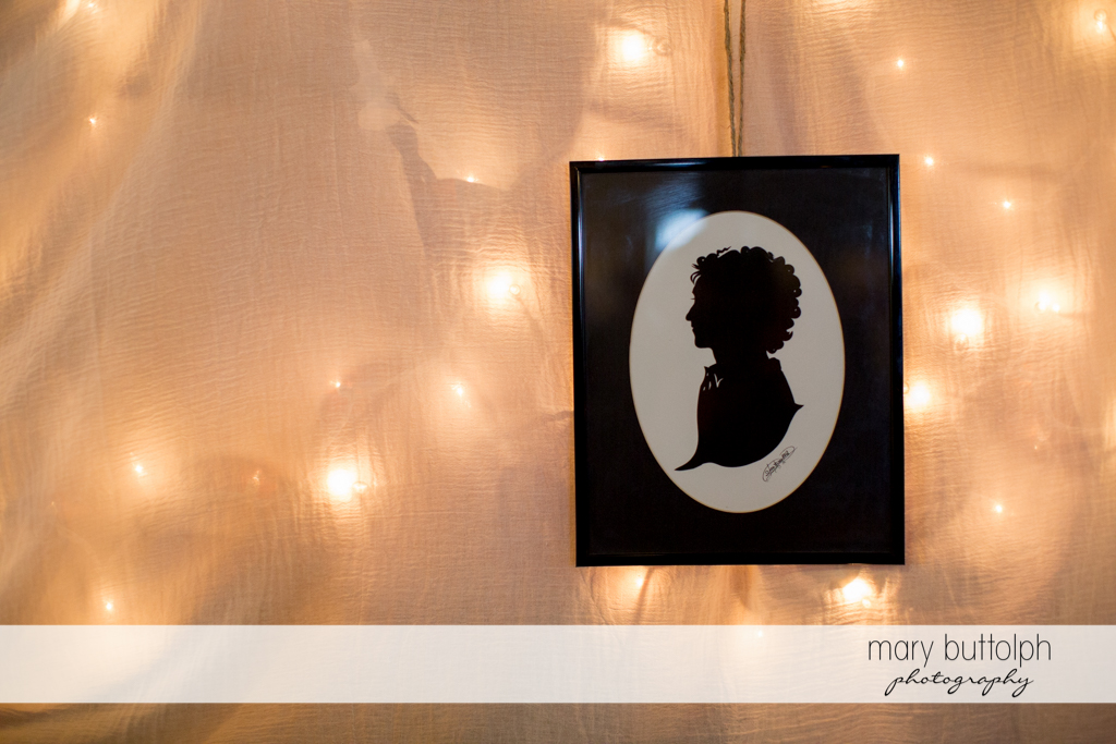 Silhouette of a woman at Frog Pond Bed & Breakfast Wedding