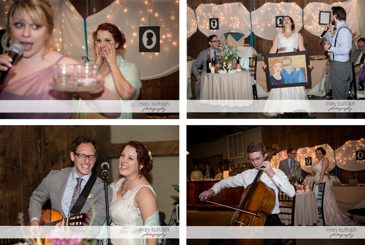 Couple having a great time at Frog Pond Bed & Breakfast Wedding