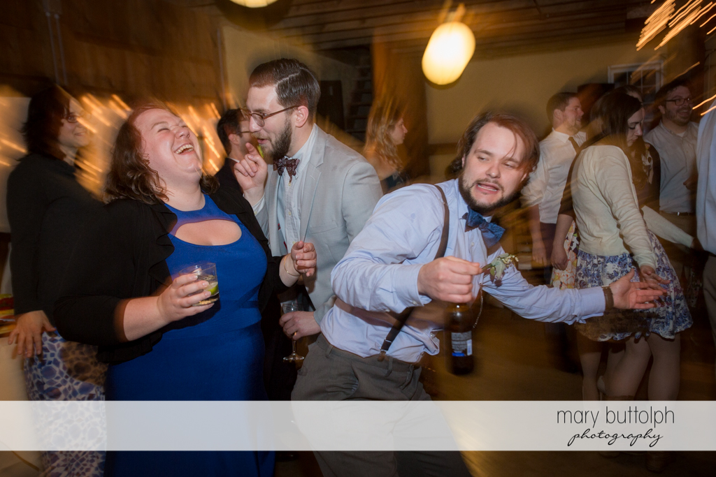Guests having a ball at the wedding venue at Frog Pond Bed & Breakfast Wedding
