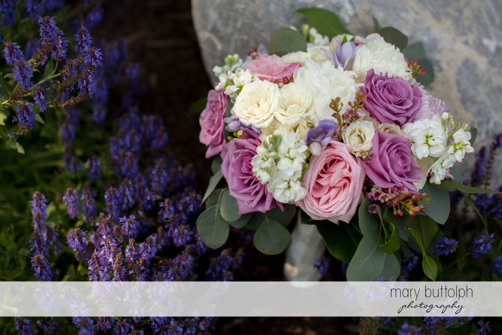 Close up shot of beautiful flowers at the Lodge at Welch Allyn Wedding