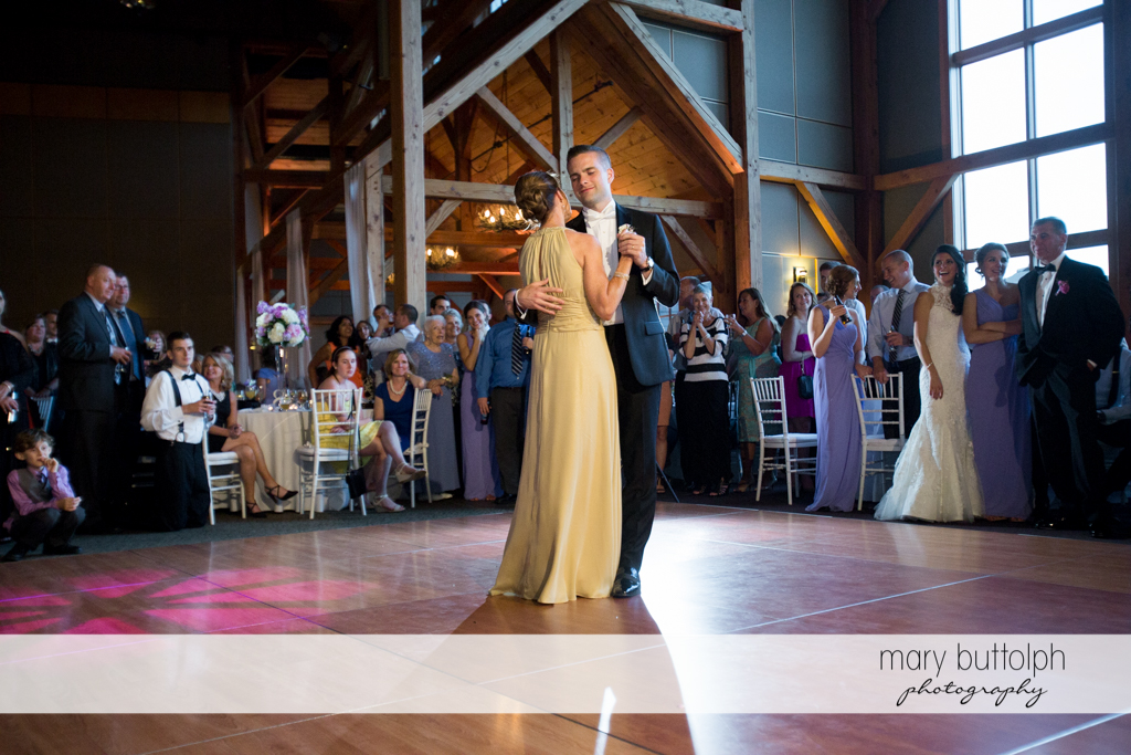 Couple dominate the dance floor at the Lodge at Welch Allyn Wedding