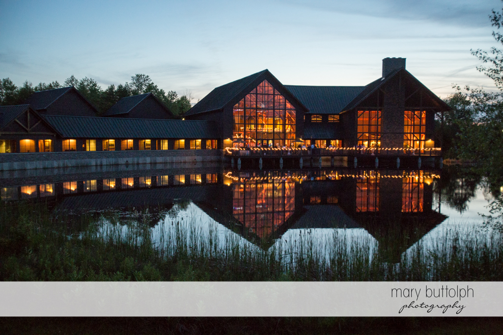The wedding venue by the lake at the Lodge at Welch Allyn Wedding
