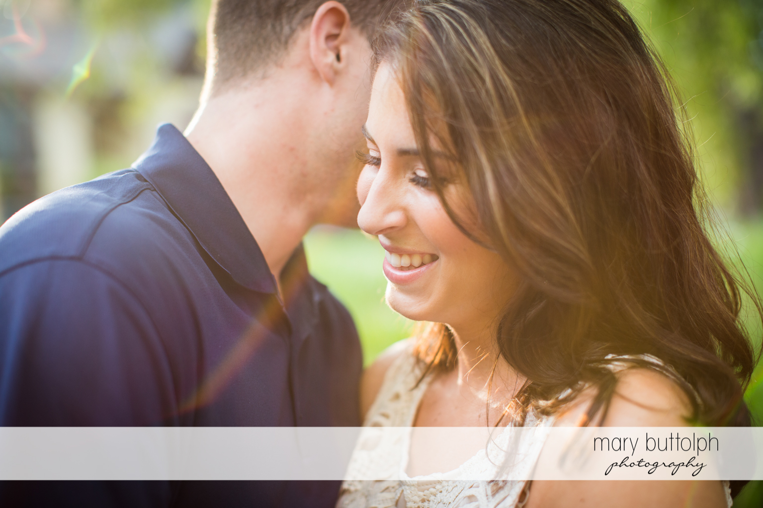 Couple in close up shot at Skaneateles Engagement