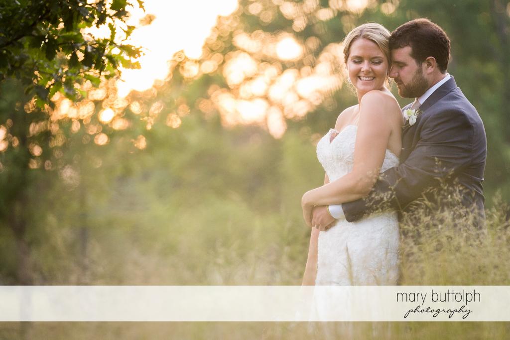Couple get romantic outdoors at Emerson Park Pavilion Wedding