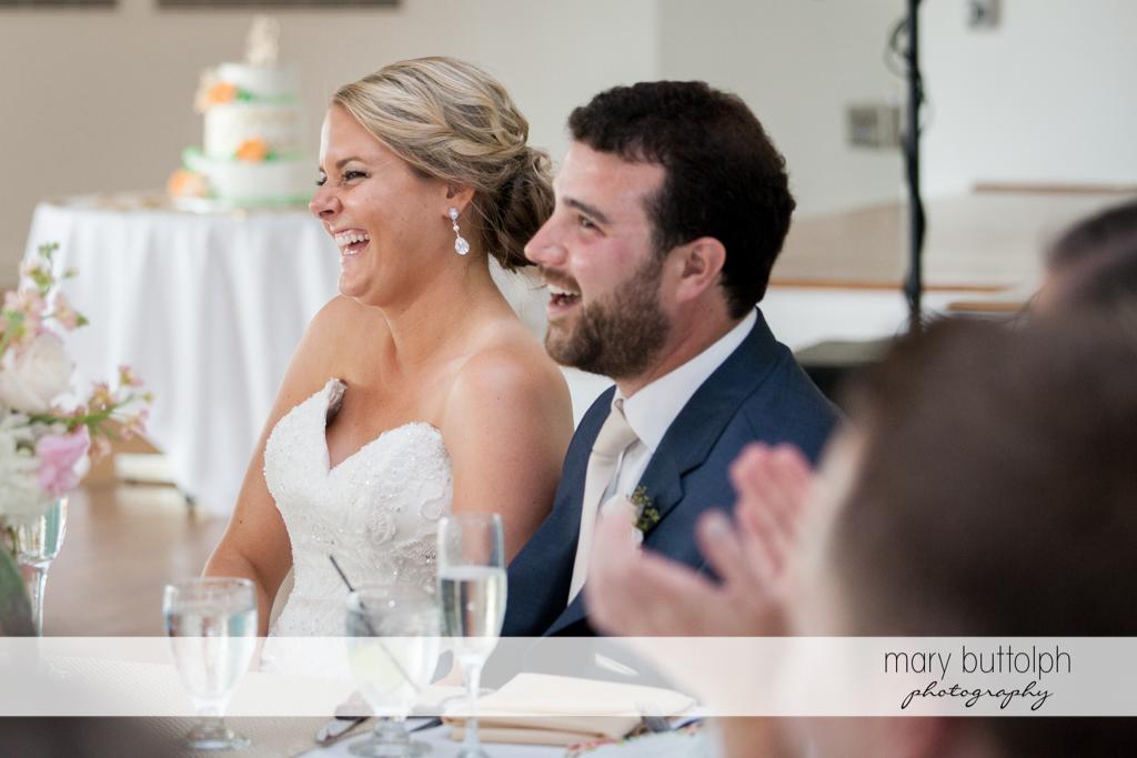 Happy couple at the wedding venue at Emerson Park Pavilion Wedding