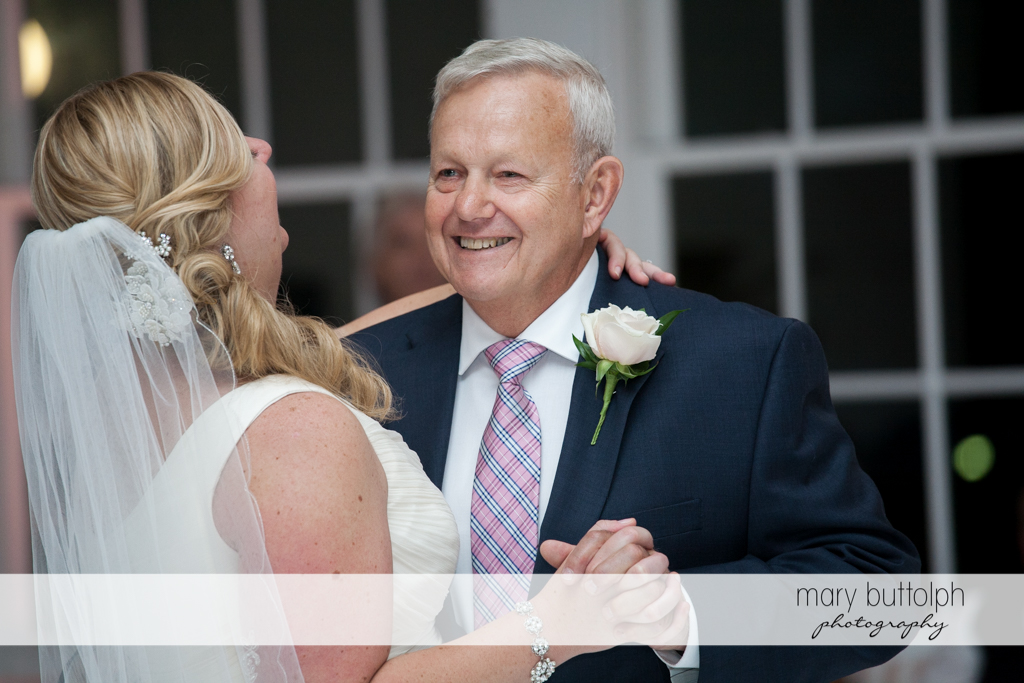Bride and her father dance at Emerson Park Pavilion Wedding